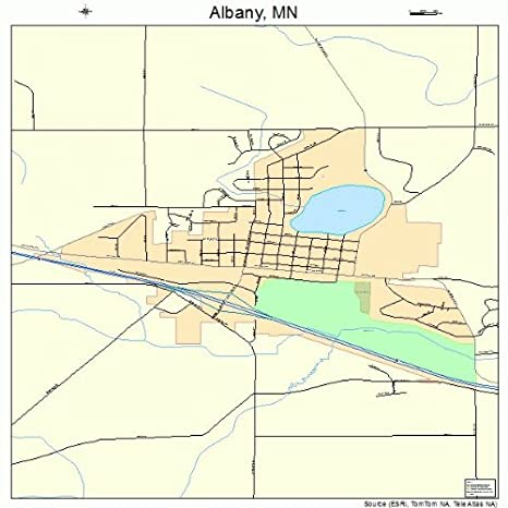 Amazon.com: Large Street & Road Map of Albany, Minnesota MN ...