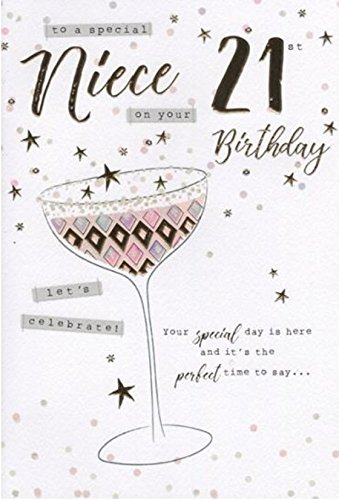 Special Niece 21st Birthday Card Amazoncouk Kitchen Home