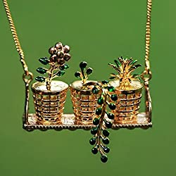 18kt Gold Plated Flora Planter Necklace Gold plated