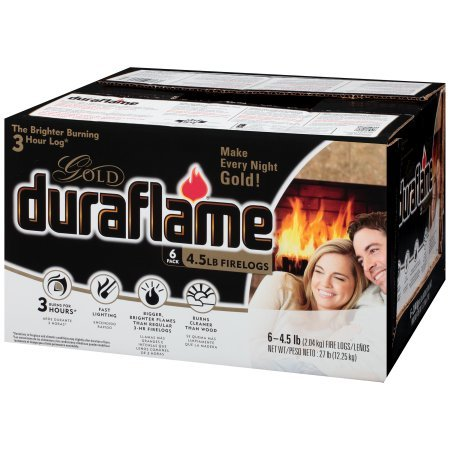 Duraflame 4577 Ultra-Premium Firelogs, 4.5-Pound, 6-Pack by Duraflame