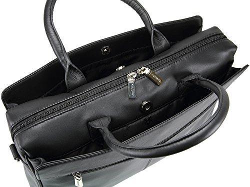 Visconti - Damen Business Tasche Groß 13 Zoll Laptop Tasche in Schwarz oder Rot 18427 Schwarz