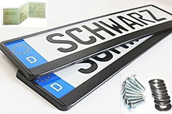2x Number Plate Holders Black with 4 Screws Instructions and New Car Registration Wallet  sc 1 st  Amazon UK & 2x Number Plate Holders Black with 4 Screws Instructions and New ...