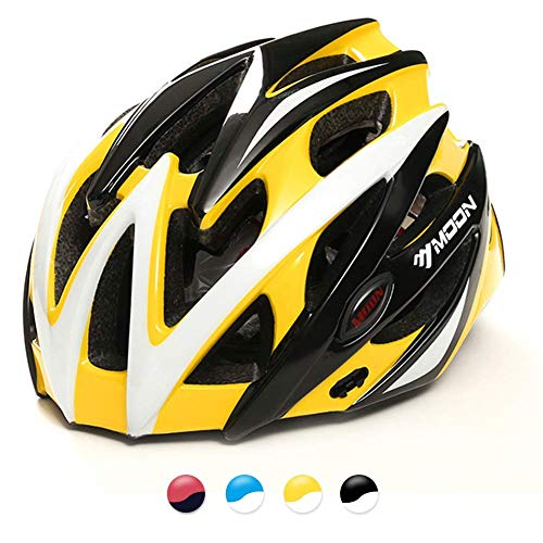 MOON Bike Helmet, Ultralight Bicycle Helmet for Men and Women, Lightweight Cycling Helmet for Road Mountain Biking Racing with Removable Visor - Helmet Bicycle Racing