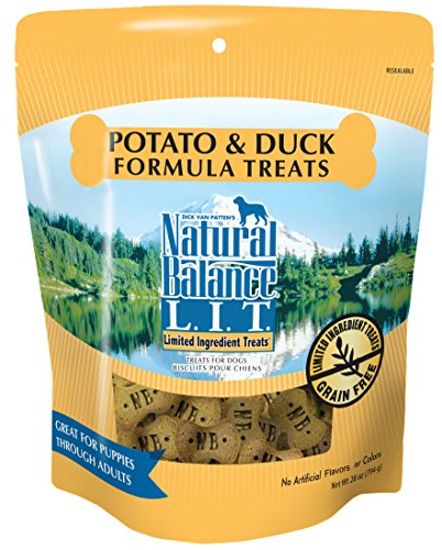 Natural Balance L.I.T. Limited Ingredient Dog Treats, Grain Free, Potato & Duck Formula, 28-Ounce (Flavor Potato)