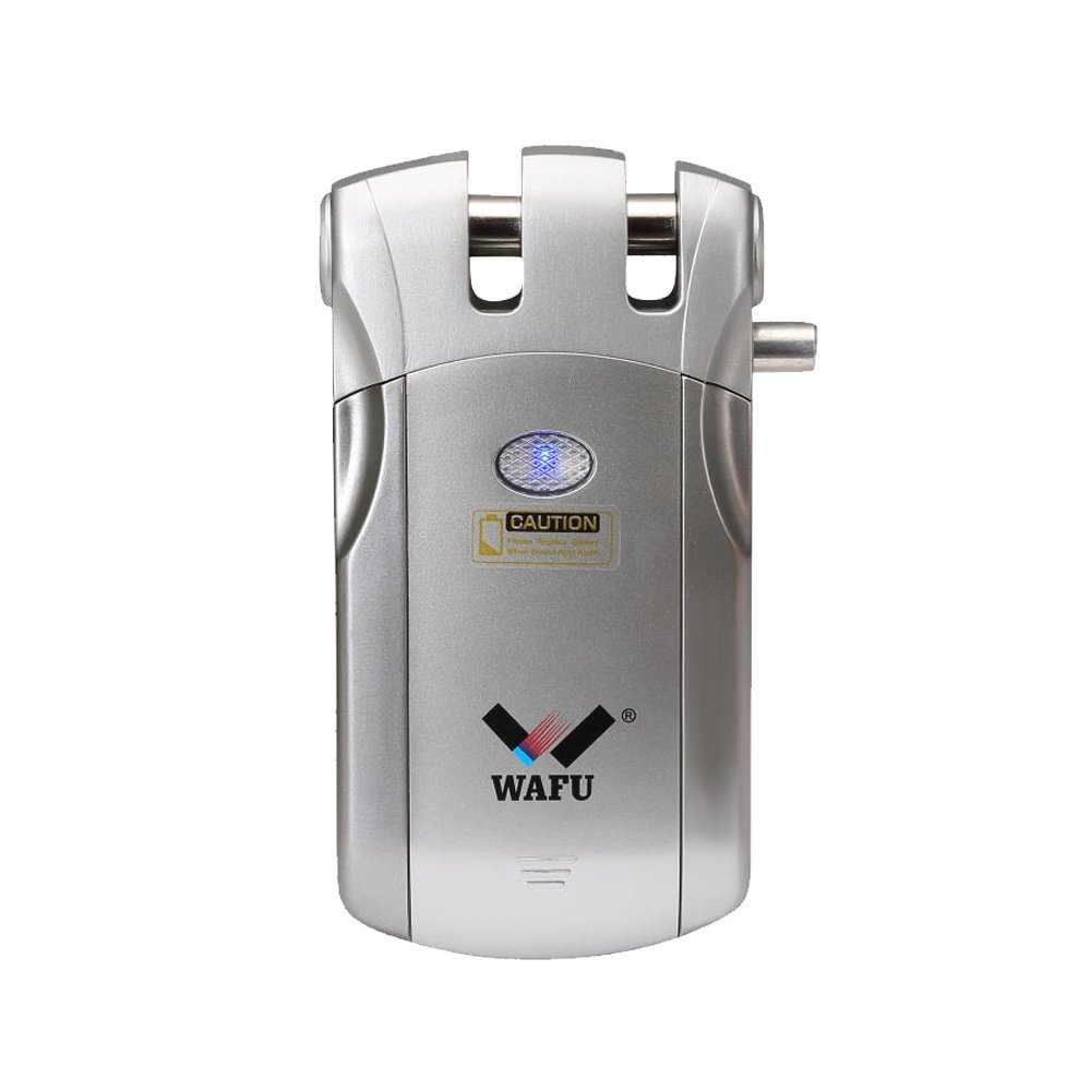 Smart Door Lock, WAFU WF-018 Wireless Remote Control Lock Security Invisible Keyless Door Entry with 4 Remote Keys for Home Office Access Control Security System