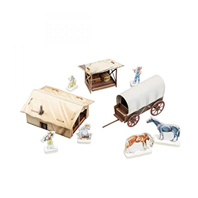 Innovative 3D-Puzzles - Settlers Camp - Wild West Series by Clever Paper (472): Toys & Games