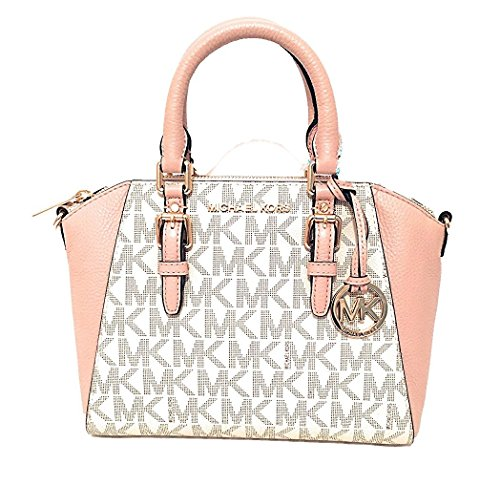 MICHAEL Michael Kors Ciara MD Messenger Handbag (Signature Vanilla/Ballet)