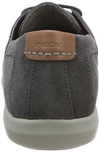 Geox U Yooking a, Náuticos Para Hombre Gris (Dk Grey)