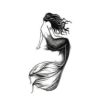 Tatuajes Temporales Adultos Mujer Sirena Pegatinas Tatuaje ...