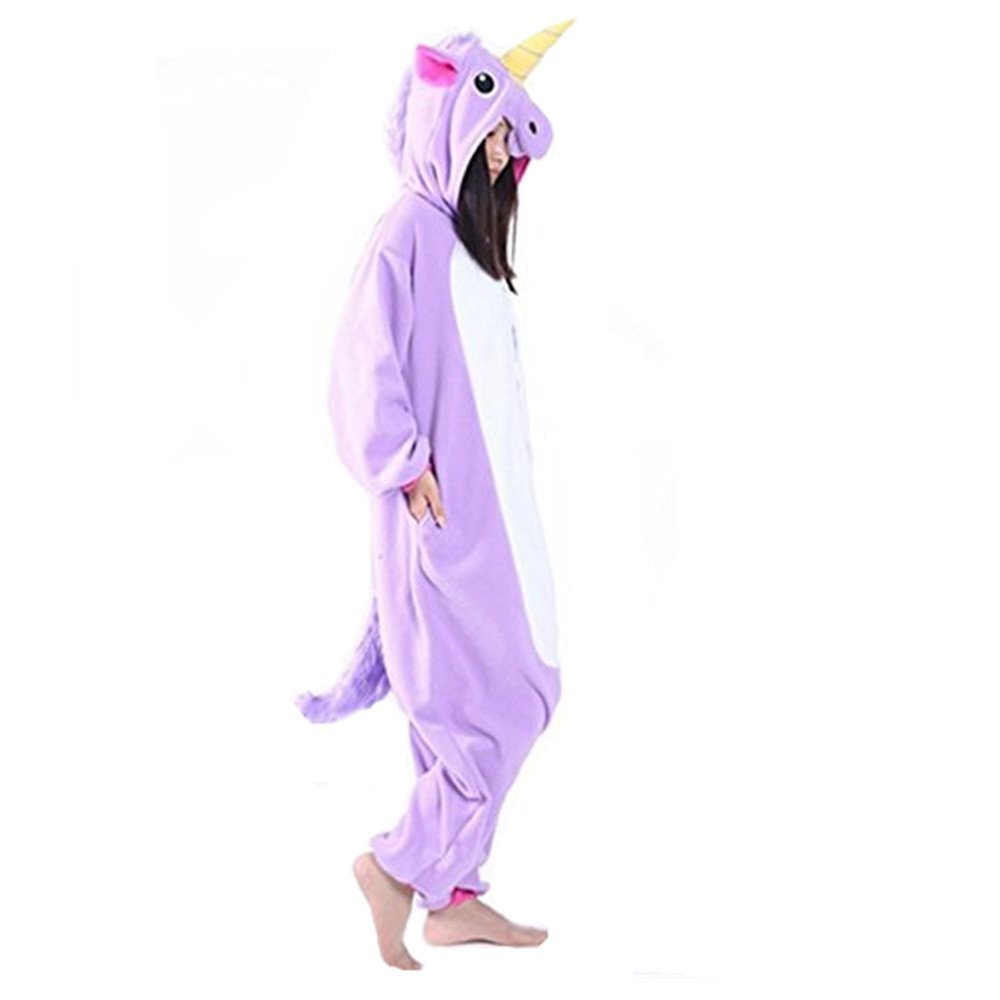 Amazon.com: LemonGo Adult Unisex Unicorn Onesie Pajamas Kigurumi Cosplay Costumes Animal Outfit (L, purple): Home & Kitchen