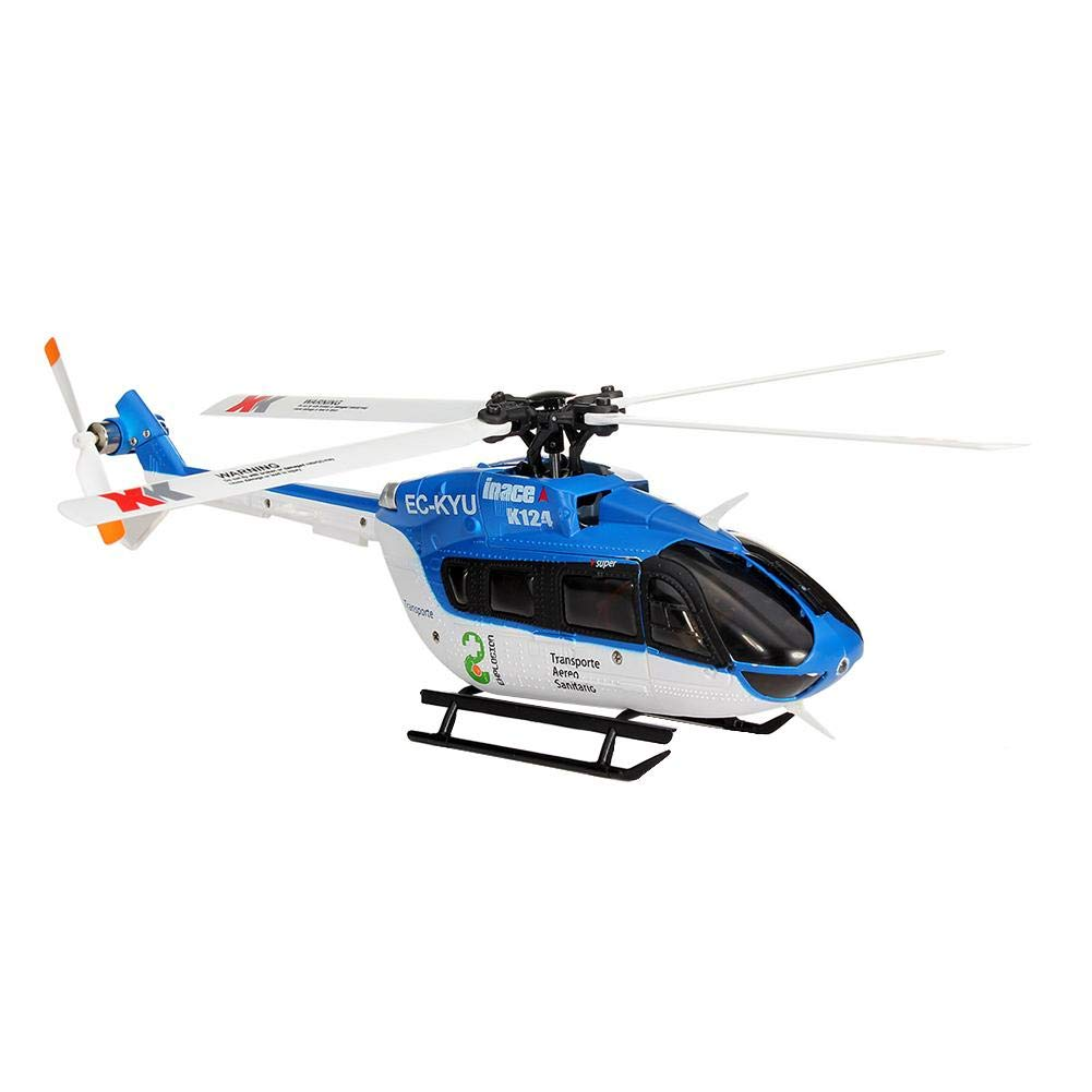 Luckycyc Children Remote Control Helicopter Toy, 2.4G XK K124 6CH Brushless EC145 3D6G System RC Helicopter RTF by Luckycyc (Image #3)