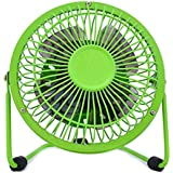 ieasysexy Portable Quiet USB Mini Destop Fan Table Fan for Home,Office Quick Cooling 5 Inch(Green)