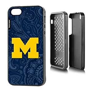Michigan Wolverines iPhone 5 & iPhone 5s Rugged Case Paisley NCAA