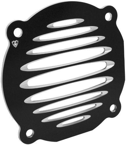 Arlen Ness 03-901 Black Deep Cut Flat Front Speaker Grille by Arlen Ness