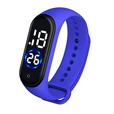 PIKAJIU Digital LED Watches, Sport Digital Touch Screen Waterproof Watch for Kids (Blue): Toys & Games