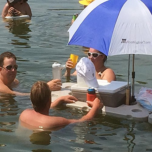 Floating Bar with Cooler and Umbrella