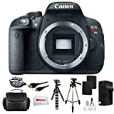 "Canon EOS Rebel T5i DSLR Camera Bundle Comes with 2 Extended Life Replacement Battery + AC/DC Rapid Home & Travel Charger + HDMI Cable + Carrying Case + 60"" Tripod + 8"" Gripster + Wrist Strap & More!"