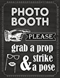 Photo Booth Prop Sign Printed on 65 Lb Card Stock White