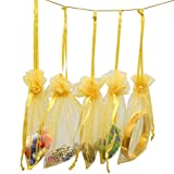 Rbenxia 100 Pcs Drawstring Organza Pouches 4 by 6