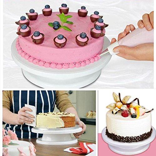 Homemade Cake Decorating Turntable : Ohuhu Revolving Cake Decorating Stand - White, Desertcart
