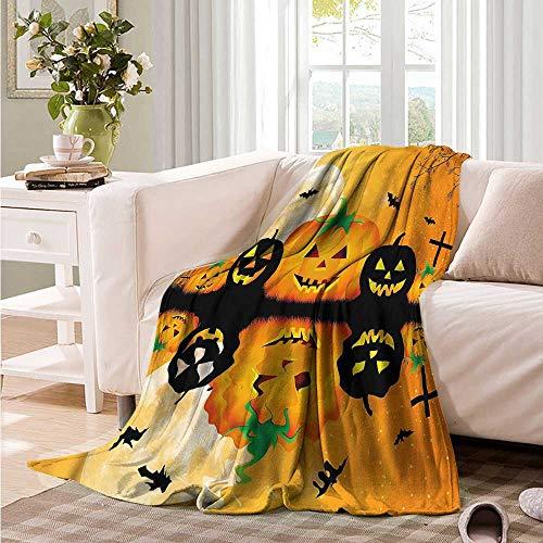 Oncegod Baby Blanket Halloween Scary Pumpkin Sofa Warm Bed 60