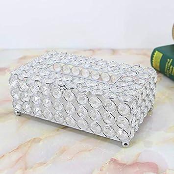 Hacoly Caja de pa/ñuelos Cristal Caja de pa/ñuelos Duradera y Elegante Dispensador de pa/ñuelos Universal para Oficina dom/éstica y Hotel Dorado