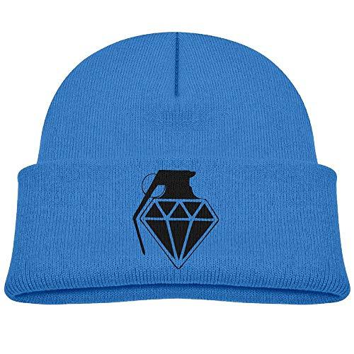 Diamond Grenade Wool Beanie Hats Trendy Unisex 0-3 Old ()