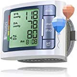 [New] iProven Wrist Blood Pressure Monitor Watch - Digital Home Blood Pressure Machine - Manual Blood Pressure Cuff - Clinically Accurate & Fast Reading - BPM-337 incl. 2 AAA Batteries