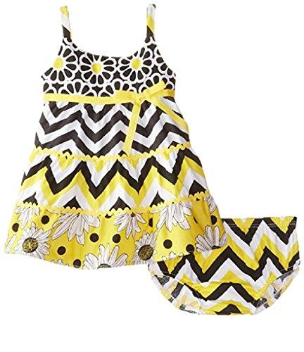 Bonnie Baby Girls' Tiered Sundress Set, Yellow, 3-6 Months
