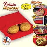 2 PCS Express Microwave Potato Cooker, Microwave Baked Potato Cooker Perfect Oven Baked Potatoes in Just 4 Minutes Useful Cooking Tool offers