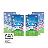 DenTek Triple Clean Floss Pick | 3X Clean: Removes Plaque & Food and Fights Bad Breath | 90 Picks | Pack of 6