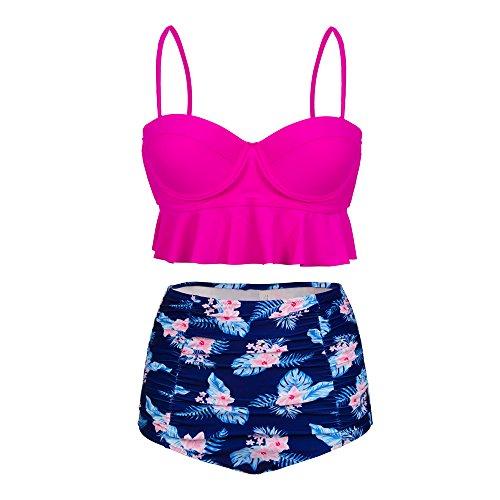 Dreaweet Vintage Womens Floral Swimsuit