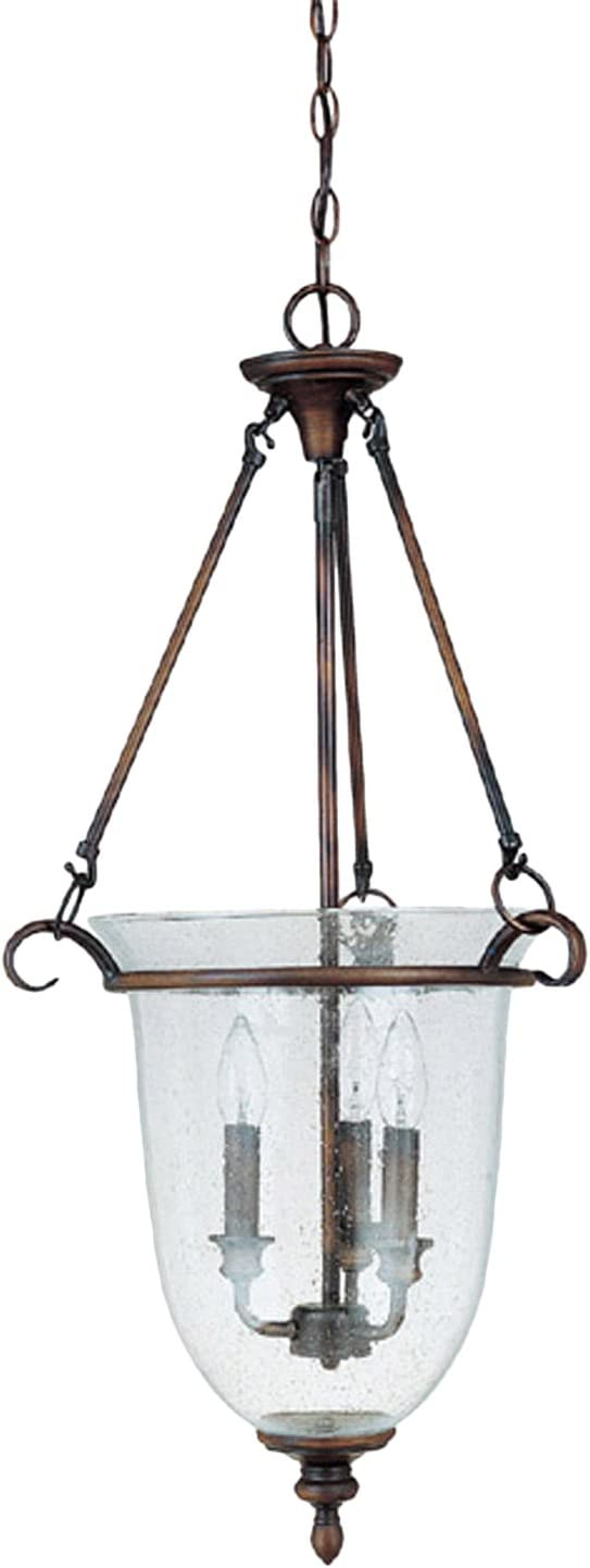 Capital Lighting 9310BB Foyer with Seeded Glass Shades, Burnished Bronze Finish