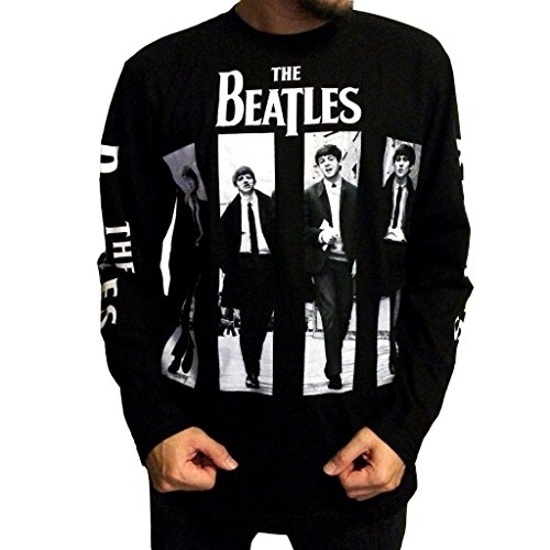 Jigg And Roll Men's The Beatles T-Shirt Long Sleeve Small (Beatles Black T-shirt)
