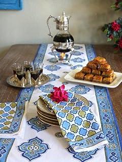 Beau Casablanca ~ Moroccan Theme Style White Quatrefoil Print Napkins