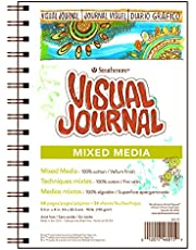 """Strathmore 500 Series Visual Mixed Media Journal, 5.5""""x8"""" Vellum, Wire Bound, 34 Sheets"""