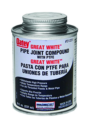 Oatey 31231 Pipe Joint Compound with PTFE with Brush, 8 ()