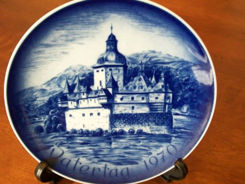 Father' Day Plate 1970 -- Bareuther-- Bavarian Porcelain --