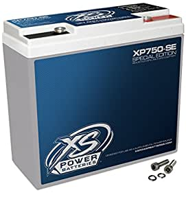 XS Power XP750 Special Edition 600W Battery 12-Volt Deep Cycle AGM Battery Power Cell with 600 Max Amps for Car Audio Stereo Systems of Up to ~1500W Peak/Max