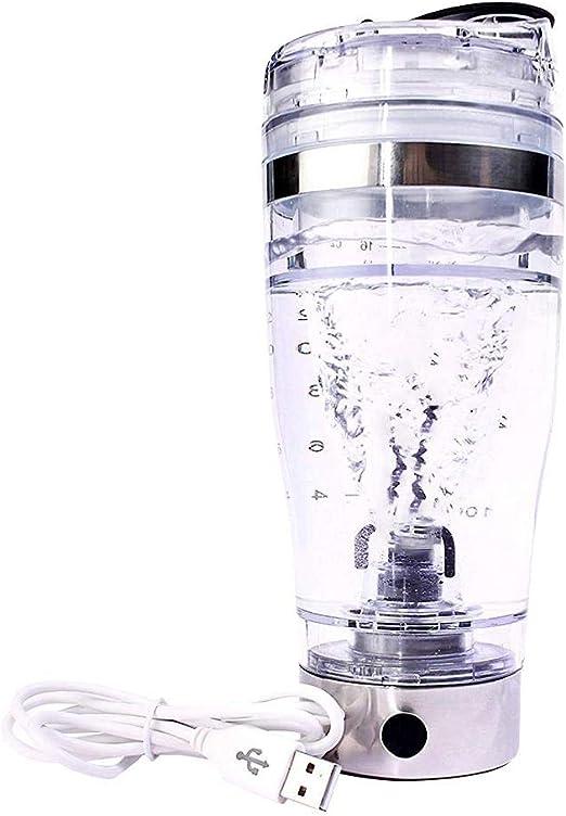 Chirsemey Vaso Mezclador Eléctrico, Carga USB Agitación Automática, Botella Mezcladora De Vidrio Acrílico para Proteínas En Polvo/Batidos/Batidos, ...