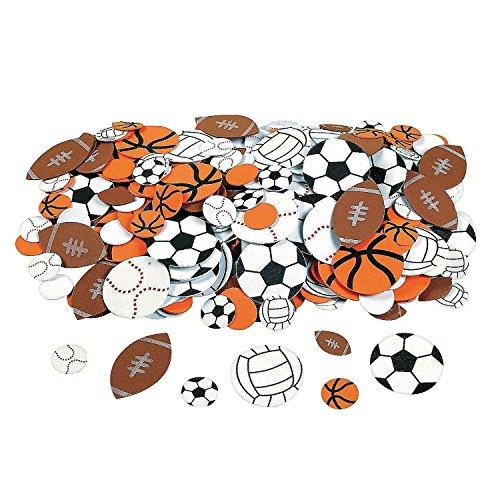 (Fun Express Fabulous Foam Self-Adhesive Sport Ball Shapes (1000)