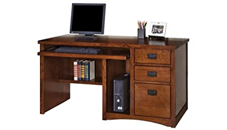 Excellent Amazon Com Mission Pasadena Computer Desk 55 5W Mission Download Free Architecture Designs Sospemadebymaigaardcom