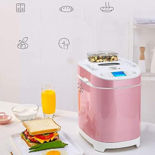 Panificadora con ajuste libre de gluten, Casa Completamente automático Maquina de pan, Multifunción Maquina para hacer pan, Desayuno Tostadas La torta ...