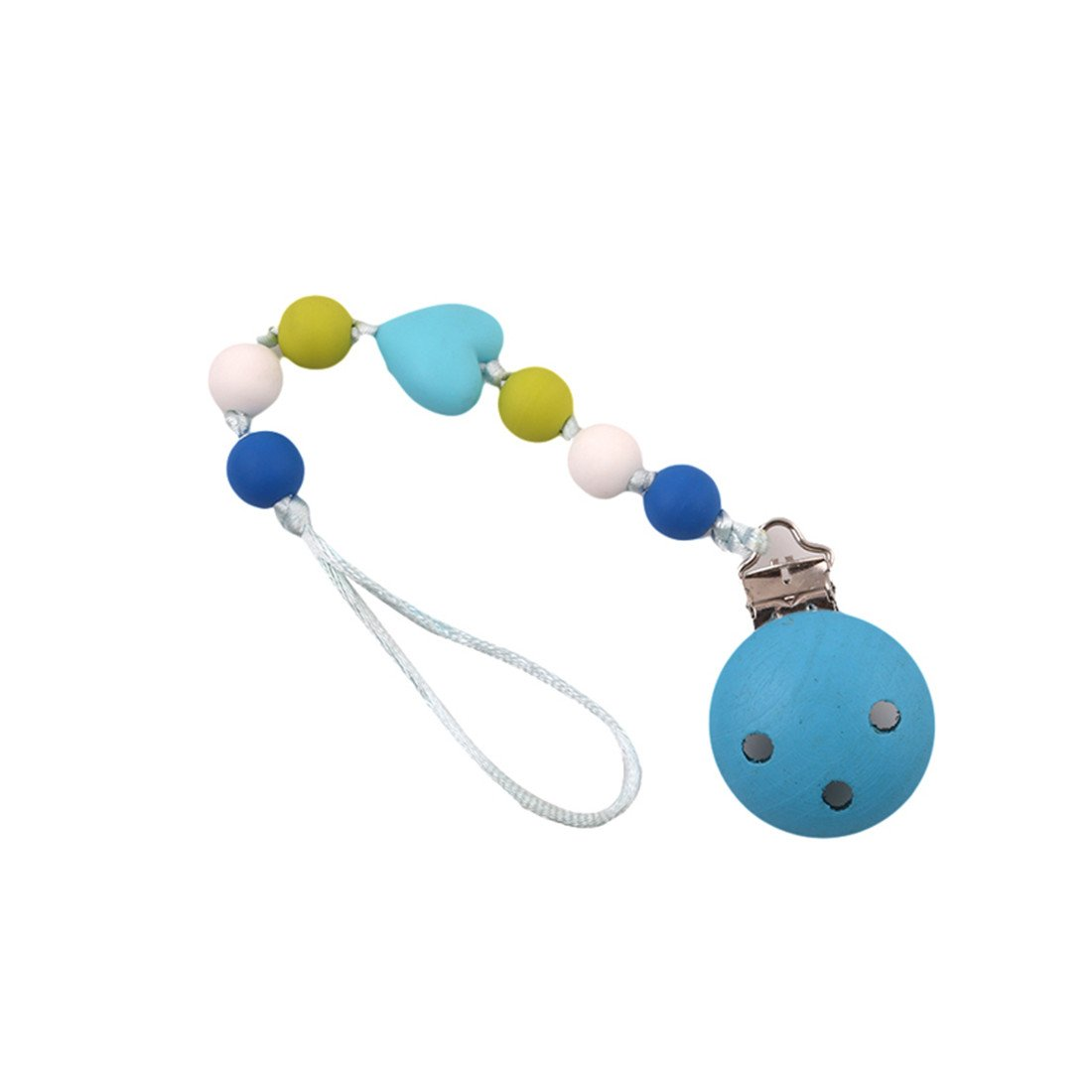 Blue VWH 1Pcs Baby Pacifier Clip Chain Dummy Soother Chains