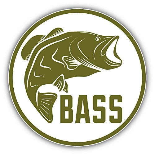 Bass Fishing Emblem Window Truck Car Bumper Sticker Decal 5