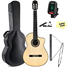 Cordoba GK Pro Negra [Gipsy Kings Signature Model] Acoustic Electric Nylon String Flamenco Guitar with Case and guitarVault Accessory Pack