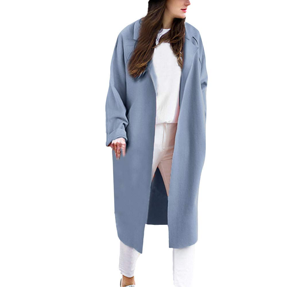 Pervobs Women's Thin Soft Open Front Cardigan Coat Loose Solid Long Coat Jacket