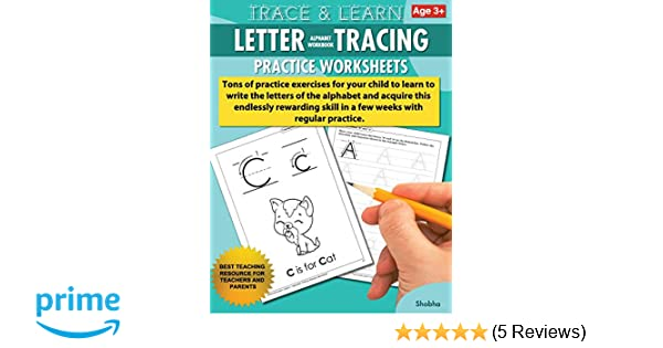 Amazon Trace Learn Letters Alphabet Tracing Workbook Practice