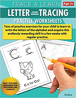Amazon.com: Trace & Learn Letters Alphabet Tracing Workbook Practice ...