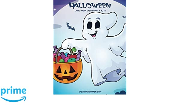 Halloween libro para colorear 1 & 2 (Spanish Edition): Nick Snels ...